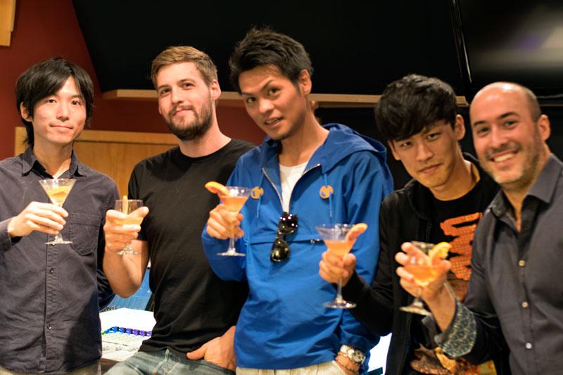 Nao Sato (Translator), Christian Wenger(Mix Assistant ),Kohei Chida (Music Director/Composer Manager), Yutaka Yamada (Composer)