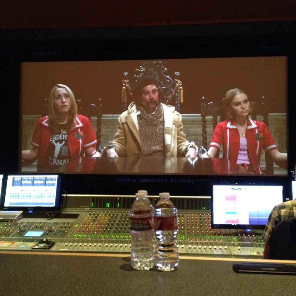 Yoga Hosers dub at Universal Studios Mix Room 2